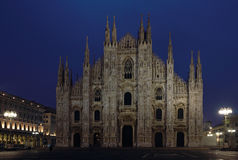 Milan Cathedral night shot Royalty Free Stock Photo