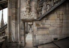 Milan cathedral passageway Royalty Free Stock Photos