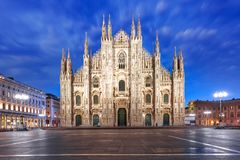 Milan Cathedral on Piazza del Duomo, Milan, Italy Stock Image
