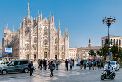 Milan Cathedral, Piazza del Duomo Royalty Free Stock Photo