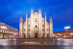 Milan Cathedral on Piazza del Duomo, Milan, Italy stock photography