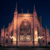 Milan Cathedral, Piazza Duomo at night, Milan, Lombardy, Italy. Stock Photo