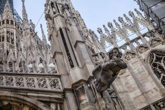 Milan Cathedral roof details, Duomo, Italy Royalty Free Stock Images