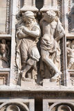 Milan cathedral sculpture royalty free stock image