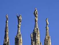 Milan cathedral spires Royalty Free Stock Image