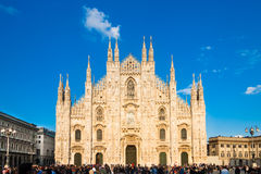 Milan Cathedral from the Square Stock Image
