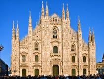 Milan Cathedral Square Stockbilder