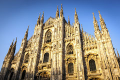 Milan Cathedral at Sunset Stock Photo