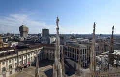Milan Cathedral tak Royaltyfri Bild