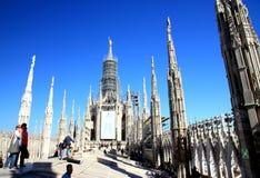 Milan Cathedral Top royalty free stock image