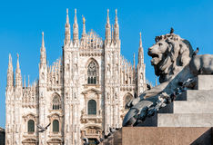 Milan Cathedral-voorgevel royalty-vrije stock foto
