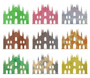 Milan Cathedral in watercolor Royalty Free Stock Photos