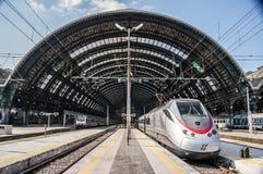 Milan Central järnvägsstation Arkivbilder