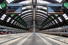 Milan Central railway station Royalty Free Stock Images
