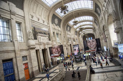 Milan Central railway station Royalty Free Stock Image