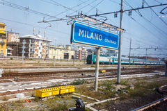 Milan Central railway station Stock Photo