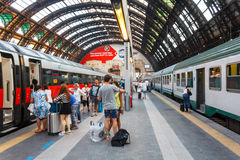 Milan Central railway station Stock Photos