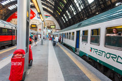 Milan Central railway station Royalty Free Stock Photos