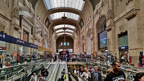 Milan Central railway station in Milan, Italy.  Royalty Free Stock Photography