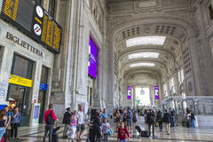 Milan Central Railway Station Milano Centrale, Italy Stock Photo