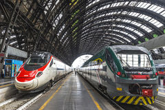 Milan Central Railway Station Milano Centrale, Italy Royalty Free Stock Images