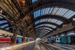 Milan. Central railway station. Stock Photography