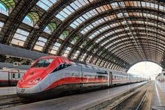 Milan Central Station - Eurostar Arkivfoto