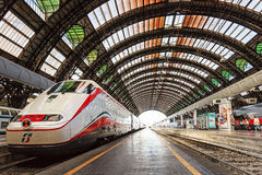Milan Central Station - Eurostar Royalty Free Stock Images