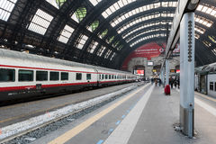 Milan Central Station interior view. Stock Photo