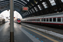 Milan Central Station interior view. Royalty Free Stock Image