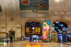 Milan Central Station, Italy. Royalty Free Stock Photo