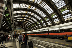 Milan, central station train Royalty Free Stock Photo