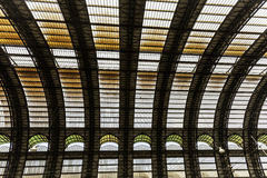 Milan, central station train Royalty Free Stock Photography