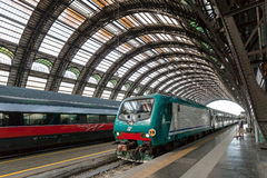 Milan Central Station - train Royalty Free Stock Photography