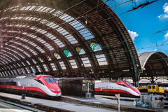 Milan Central Station - train Royalty Free Stock Photos
