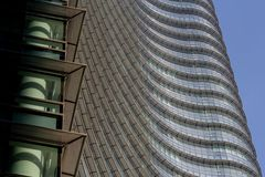 Milan cesar pelli tower. View from the ground Stock Images