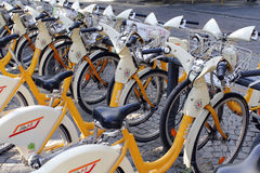 The milan city bikesharing project Royalty Free Stock Photos