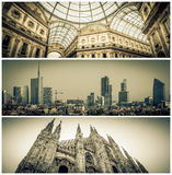 Milan city center Stock Image