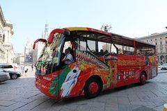 Milan city sightseeing coach Royalty Free Stock Images