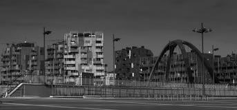 Milan city view. Over the bridge Stock Image