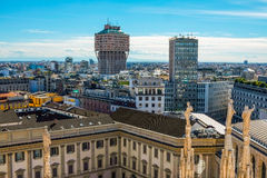Milan cityscape Royalty Free Stock Photos