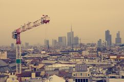 Milan cityscape and Duomo cathedral Royalty Free Stock Photo