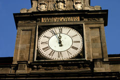 Milan Clock. Clock found above the law courts in central Milan, Italy stock photos