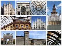 Milan collage. A collage of photos about Milan city - Italy Royalty Free Stock Photography