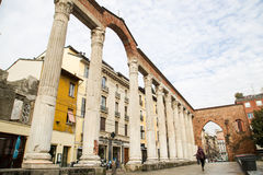 Milan, columns of San Lorenzo Royalty Free Stock Photo