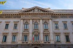 milan Commercial Bank de Itália A fachada da construção Foto de Stock Royalty Free