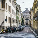 Milan Conservatory ist ein College von Musik lizenzfreie stockbilder