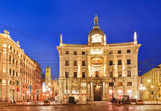 Milan Cordusio Square Palace Stock Image