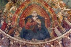 Milan - coronation of mary from Saint Simpliciano stock photo
