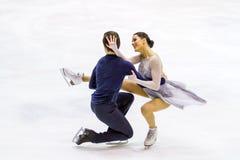 MILAN - 16 DÉCEMBRE : Charlene Guignard et Marco Fabbri pendant le championnat italien 2018 Photos stock